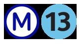 Logo métro ligne 13