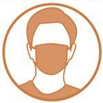 icone homme avec un masque
