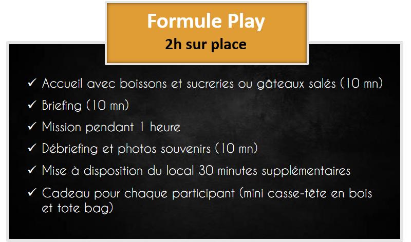 presentation site formule entreprise captive live escape game